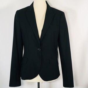 Theory Blazer  Women's 10 Black Stretch Wool EUC